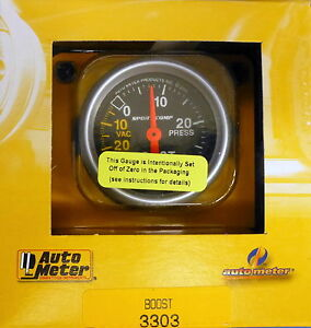 Auto Meter 3303 Sport Comp Vacuum Boost Mechanical Gauge 2 1 16 30 In Hg 30 Psi