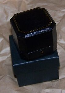 Black Cut Leatherette Earring Pin Jewel Token Coin Display Gift Box Case Award X