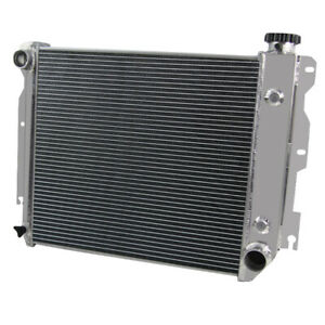 3 Rows Aluminum Radiator For 87 06 Jeep Wrangler Tj Yj Gm Chevy Sbc V8 Engine