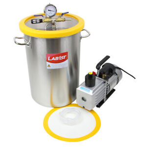 8 4 Gallon Stainless Steel Degassing Vacuum Chamber And 3cfm Vacuum Pump Kit