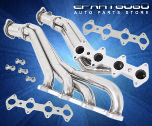 2005 2010 Ford Mustang Gt 4 6l V8 Stainless Long Tube Exhaust Manifold Header