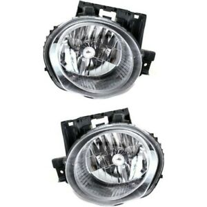 Headlight Set For 2011 2012 2013 2014 Nissan Juke Left And Right With Bulb 2pc