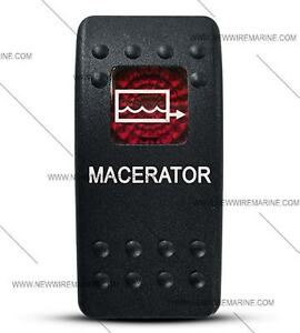 Labeled Contura Ii Rocker Switch Cover Only Macerator Red Window