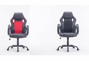Mcombo Executive High Back Office Chair Bucket Seat Computer Desk Gaming Chair