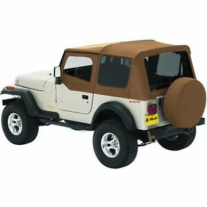 Bestop New Soft Top Tan Jeep Wrangler 1988 1995