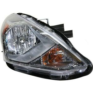 Headlight For 2015 2016 2017 2018 Nissan Versa Right Black Housing With Bulb