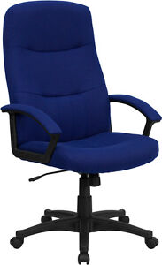 Flash High Back Navy Blue Fabric Executive Swivel Office Chair Bt 134a nvy gg