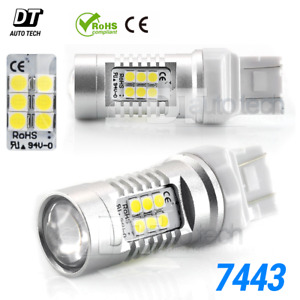 2x 40w 7443 7440 Led 6000k White Reverse Backup High Power Light Bulbs