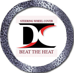 Cool Leopard Gray Steering Wheel Cover To Match So Soft