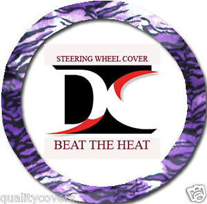 Cute Purple Tiger Steering Wheel Cover Soft smooth
