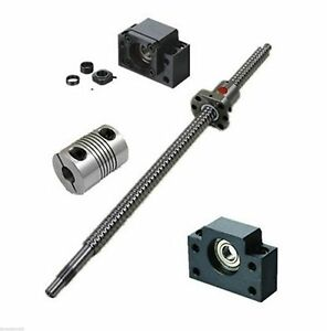 1set Sfu1605 Series Ball Screw From L200mm To L850mm With Single Ballnut For Cnc