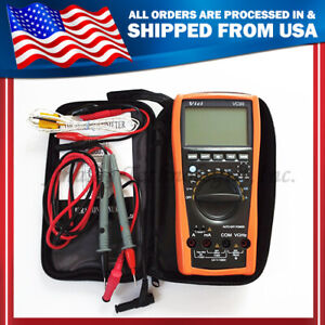 New Vc99 Auto Range Digital Multimeter Thermo Capacitance Resistance bag
