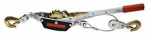 Two Reese 2 Ton Cable Winch Puller 4000 Pound Come Along Ratchet Cable Pullers