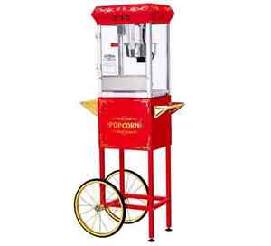 New Commercial Style Red 8 Ounce Theater Popcorn Maker Popper Machine