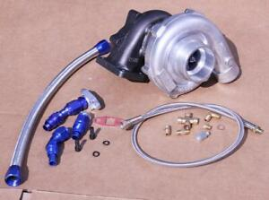 T3 T4 T04e Turb0charger Turbo 450 Civic 06 10 Fa1 Fd1 K20 R18 Fa2 Oil Line Kit