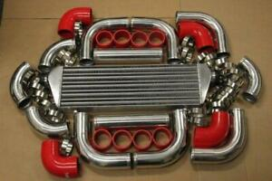 Red Fimc Intercooler Turbo Piping Kit Coupler Clamps Rx7 Rx8 Miata Mx3 Rx2 Rx3