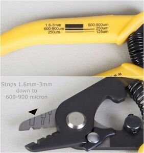 Fiber Optics Cable Stripping Tool Miller Wire Cutter 3 Hole Jacket Precision New