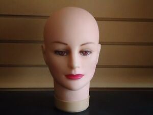 Two 2 160 Female Light skin Rubber Mannequin Head Forms 10 h polly Products