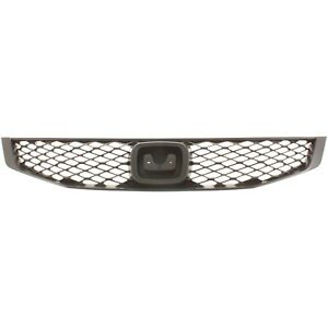 Grille For 2009 2011 Honda Civic Coupe Textured Black Plastic Capa