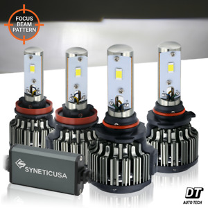 9005 H11 Combo 240w 24000lm Cree Led Headlight Kit High Low Beam Light Bulbs