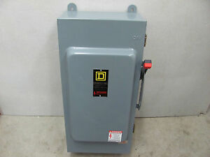 Square D 200 Amp Fusible Disconnect Switch Box