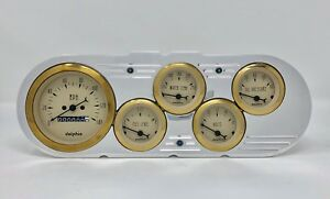 1963 1964 1965 Chevy Nova 5 Gauge Dash Cluster Gold