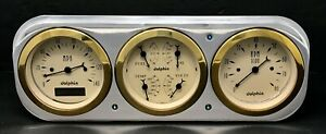 1937 1938 Chevy Car 3 Gauge Cluster Gold