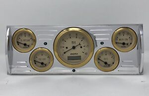 1941 1942 1943 1944 1945 1946 Chevy Truck 5 Gauge Dash Cluster Gold