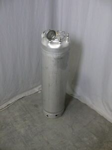 Alloy Products Stainless Steel Pressure Vessel 140 Psi Gauge Ports