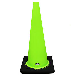 28 Rk Lime Safety Traffic Pvc Cones With Black Base Set Of 8