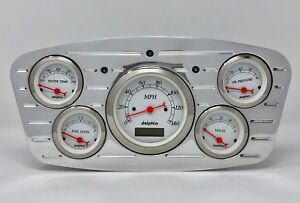 1933 1934 Ford Car 5 Gauge Dash Cluster White