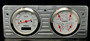 1940 1941 1942 1943 1944 1945 1946 1947 Ford Truck Gauge Cluster White Metric