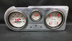 1948 1949 1950 Ford Truck 3 Gauge Cluster Shark
