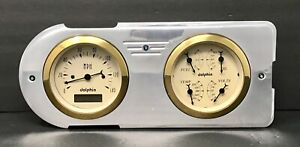 1948 1949 1950 Ford Truck Gauge Cluster Quad Gold