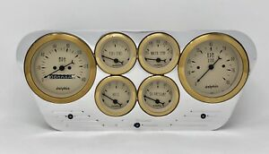 1953 1954 1955 Ford Truck 6 Gauged Dash Panel Cluster Set Billet Insert Gold