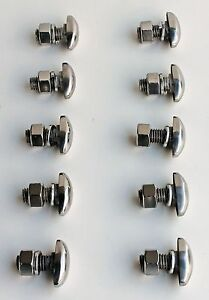 Chevy Truck 1938 1939 Oval 1941 1942 1946 Bumper Bolt Set New Stainless 10p
