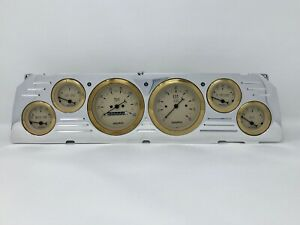 1964 1965 1966 Chevy Truck 6 Gauge Dash Cluster Gold