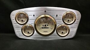 1933 1934 Ford Car 5 Gauge Dash Cluster Gold