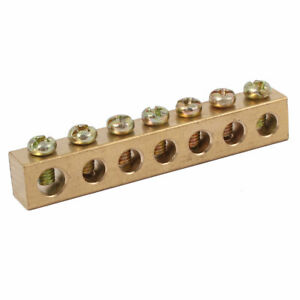 7 Holes Electrical Distribution Wire Screw Terminal Ground Copper Neutral Bar