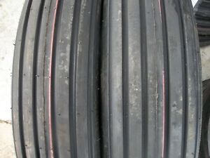 Two 600x16 6 00 16 Rib Implement Farm Tractor Tires Disc Do all 6 Ply
