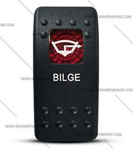 Labeled Contura Ii Rocker Switch Cover Only Bilge Red Window