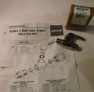 Binks 72 14040 2 way High Pressure Ball Valve 4000 Psi Devilbiss Paint Sprayer