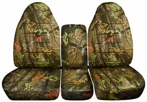 Camouflage Seat Covers 2000 2004 Dodge Dakota 40 20 40 Seats
