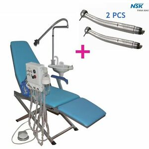 Dental Folding Chair Full W Turbine Unit led Light spittoon free Handpieces