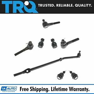 Trq 8 Pc Kit Inner Outer Tie Rod End Upper Lower Ball Joint Set For Jeep Xj Mj