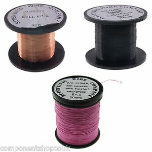 40 29awg 0 08 0 28mm Copper Solderable Enamelled Pencil Magnet Coil Wire Uk