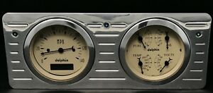 1940 1941 1942 1943 1944 1945 1946 1947 Ford Truck 2 Gauge Dash Panel Insert Tan