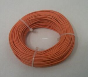 22 Awg Tinned Copper Stranded Hook Up Wire 100 Feet Orange Ul1007