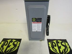 New Square D H321nrb 3 Pole 240 Volt 30 Amp Fusible Disconnect Safety Switch