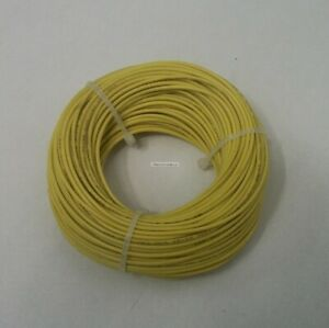 22 Awg Tinned Copper Stranded Hook Up Wire 100 Feet Yellow Ul1007